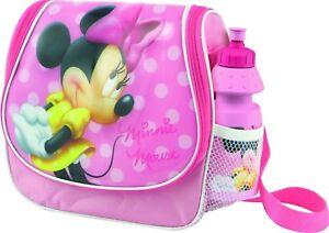 Disney Minnie Mouse Shoulder Bag & Drinking Bottle Lunch Bag