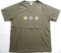 MAXIME Damen T-Shirt Gr. 40-42 Oliv