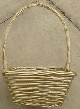 Square Gold Spray Colour Wicker Basket