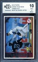2010 Topps Cards Your Mom Threw Out #CMT162 Derek Jeter Card BGS BCCG 10 Mint+