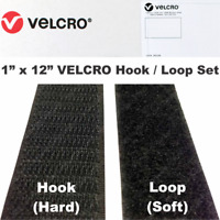 """9368 Velcro 1/"""" X 50 Yd 188333 Sew On Loop Fuzzy Pile Side Only Light Blue NEW"""