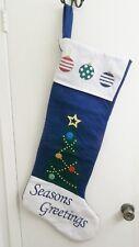 Jumbo 3 Foot Season's Greetings Felt Christmas Stocking