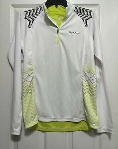 PEARL IZUMI Cycling Long Sleeve Jersey Women's Medium White/Yellow