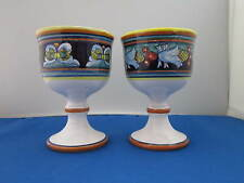 Dipinto A Mano / Cristina Ravello Signed Goblets, Set of Two