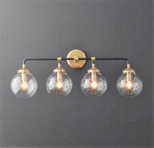 Globe 4-Light Globe Vanity Sconce - Black and Gold - Bathroom Light Fixture
