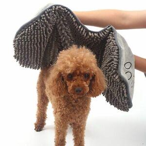 AU Dual Hand Pocket Super Absorbent Dog Towel Quick Drying Soft Thick Bath Towel