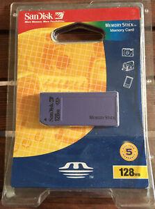 ✳️1 NiP Sandisk 128MB Memory Stick  (SDMS-128-822) for Older Sony Cameras Rare