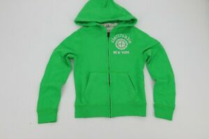 Abercrombie Kids Youth Boys Muscle Jacket with Hood Green