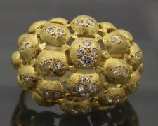 VS2 / FG 18k Yellow Gold Ring Womens Ladies Size 9.25 Cocktail Dome Princess