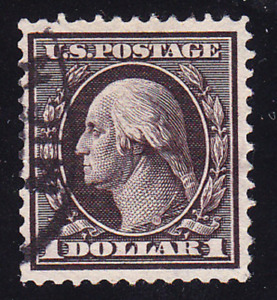US Scott 342 old $1 Washington regular issue U/VF CV $100
