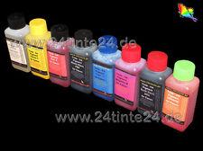 8 x 100ml 800ml PIGMENTO INCHIOSTRO REFILL INK r1900 R 1900 t0870 t0871 t0872 ARANCIO