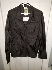 G STAR RAW FILCH COMBAT Overshirt/Jacket/Windbreaker,black nylon, NWT LG