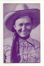 Tex Ritter 1940's Salutations Cowboy Purple Exhibit Penny Arcade Card