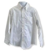 Chaps Boys Shirt Button Up White Dress School Uniform Size 8 EUC
