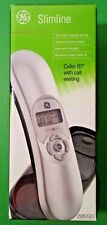 Ge Corded Slimline Phone with Caller Id Silver Black 29267Ge3 - New