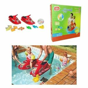 11 Piec CHAD VALLEY WATER INFLATABLE FLOAT JET SKI ARM BANDS BEACH BALL SWIM TOY