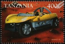 1998 RENAULT ZO Concept Car Mint Automobile Stamp (1999 Tanzania)