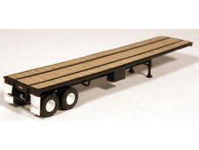 HO 1/87 Lonestar Models #5009 Trailmobile 40' Flat Bed Trailer KIT - Black