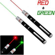 2x High Powered 300miles Red+Green Laser Pointer Pen Single Beam Mini Aaa Lazer