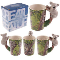TAZZA MUG CUP ANIMAL KOALA 10 CM AUSTRALIAN BEAR HEAD GIFT NATURA ANIMALI #1
