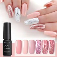 LILYCUTE 7ml Rose Gold UV Gel Nail Polish Glitter Sequins Soak Off Nail Art Gel