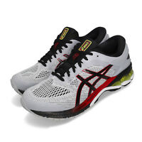 Asics Gel-Kayano 26 Grey Black Red Men Running Shoes Sneakers 1011A541-020
