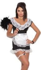 French Maid Costume Mini Dress Apron Panty Garter Lace Ruffles Sexy Chamber 9457