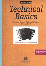 Akkordeon Noten : Technical Basics (Heinz Hox) - VHR 1850 - technische Übungen