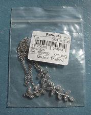 NEW! AUTHENTIC PANDORA SPARKLING LEAVES CLEAR CZ NECKLACE #590414CZ-45 LIST $100