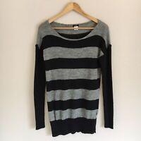 J. Crew Womens Size Medium Dulphine Sailor Stripe Sweater Alpaca Wool Blend