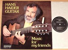 HANS HAIDER - Music For My Friends  (SELECTED SOUND 1979 / LP NEUWERTIG)