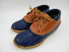 L.L. Bean Gumshoes Tan and Blue Duck Boots Womens' sz 5