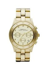 NEW MARC JACOBS MBM3101 GOLD LADIES BLADE WATCH - 2 YEAR WARRANTY