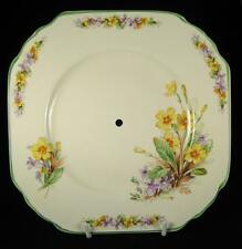 Imperial Ware Yellow, Orange & Purple Flowers Square Cake Plate 1951