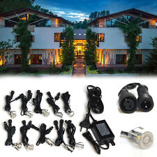 10pack 18mm Low Voltage Outdoor Garden Yard Path Stage LED Deck Light Driver 12V