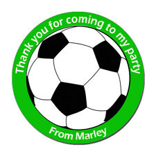 Personalised Football Birthday Stickers For Party Thank You Sweet Cone Bags x24