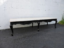 French Long Painted Black Marble Top Coffee Table 7787