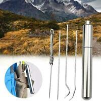 Dental Zahnreinigung 4 teile Tragbare Edelstahl Aufbewahrungsbeutel Camping C3B7
