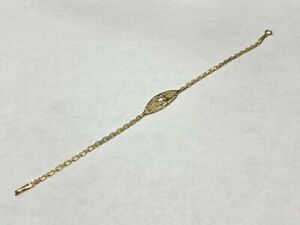 14kt Yellow Gold Heart Bracelet **