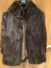 BELLISSIMO indossato a malapena reale naturale Giacca di pelliccia di volpe UK 14-16