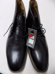 Mens Ex M&S M&S Genuine Leather Smart Chukka Boots Black ALL SIZES EX25