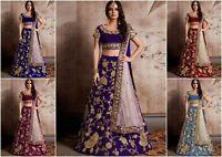 Bridal wear Lehenga Designer Indian Latest saree Bollywood lengha choli set  MA