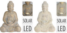 44cm Sitting Buddha Statue Garden Ornament Meditating Buddha Solar LED Light