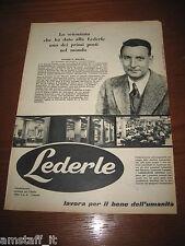 *18=LEDERLE FARMACI=ANNI '50=PUBBLICITA'=ADVERTISING=WERBUNG=PUBLICITE=