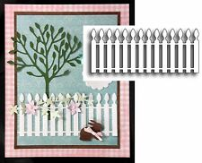 Picket Fence die Poppystamps metal cutting dies 827 All Occasion fences