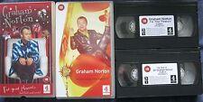 2 x GRAHAM NORTON: FOR YOUR PLEASURE/THE BEST OF SO... VHS VIDEOS. Cert. 18.