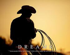 Horse Motivational Poster Art Western Decor Cowboy Rodeo Saddle Spurs MVP193