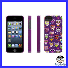 GRIFFIN Wise Eyes hard shell case, iPhone 5/5s/SE, Cute Owl Graphic, Purple/Pink