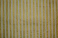 Dekostoff (€12/m²) 0,5 m Baumwolle creme gold gestreift 1,3m breit