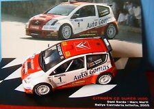 CITROEN C2 S1600 #1 SORDO MARTI RALLYE CANTABRIA 2005
